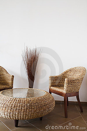 Free Wicker Furniture Stock Images - 9571764