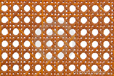 Wicker Rattan Weaved Pattern Background