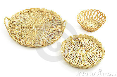 Wicker trays, basket