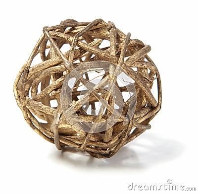 Wicker Wooden Ball