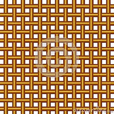 Wicker woven pattern