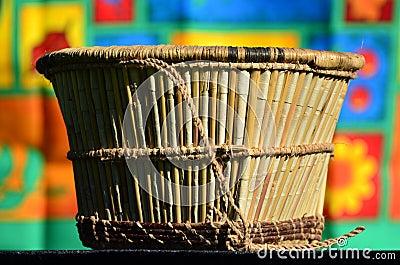 Wickerwork - basket of reeds