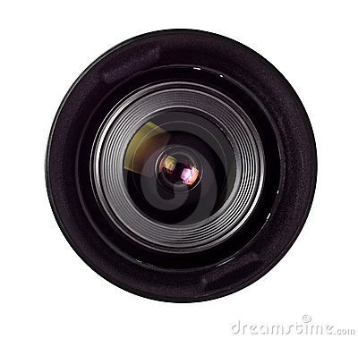Wide angle lens front