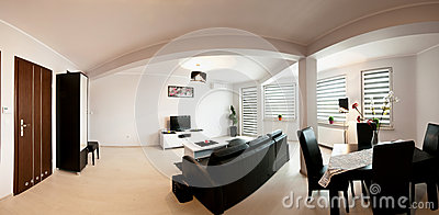Apartment room panorama