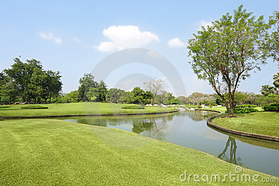 Wide angle in park