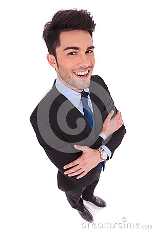 Free Wide Angle Picture Of A Smiling Businessman With Hands Crossed Stock Photo - 92852490
