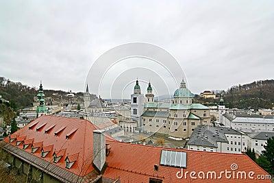 Wide-Angle Salzburg Cityscape