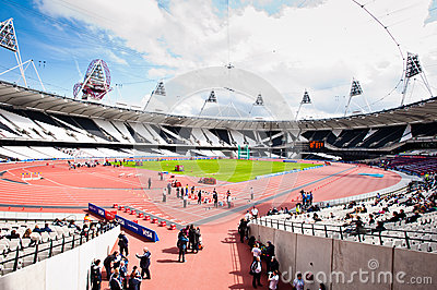 wide angle view of the London s olympic stadium Editorial Photo