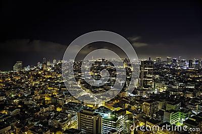 Tel-Aviv Night Cityscape