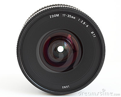 Wide angle zoom lens for SLR camera