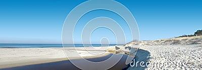 Wide beach panorama.