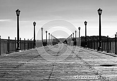 Wide boardwalk