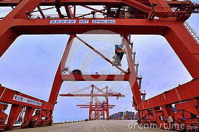 Wide dock area, Xiamen, Fujian, China Editorial Photo