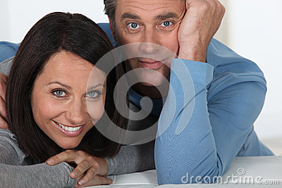Wide-eyed couple