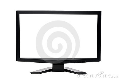 Wide flat screen  LCD computer monitor