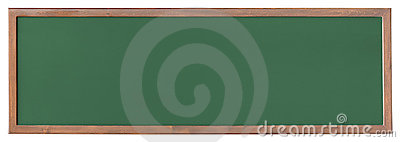 Wide green blackboard cutout
