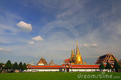 Wide Landscape of Wat Phra Kaew