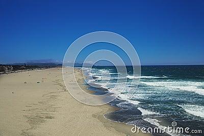Wide ocean beach