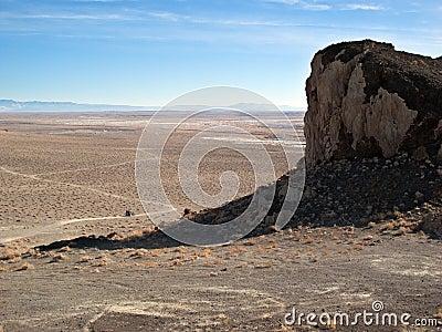 Wide open Nevada desert.