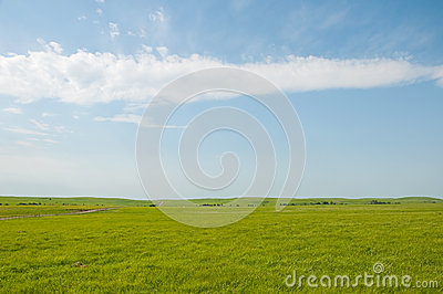Wide open rural prairie landscape