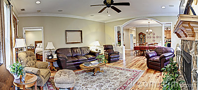 Wide panorama, furnished livingroom