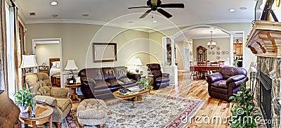 Wide panorama, furnished livingroom