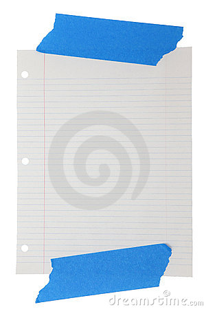 Wide Rule Lined Paper Taped