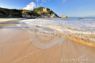 Wide sea beach view