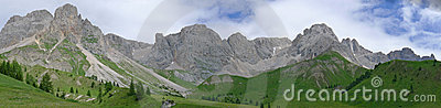 Wide view of Dolomiti