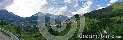 Wide view of Dolomiti