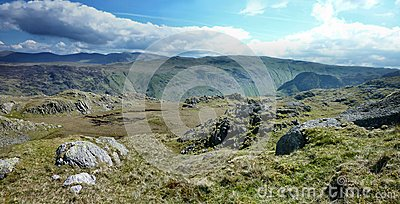 Wide view looking over Langstrath from Rosthwaite Fell