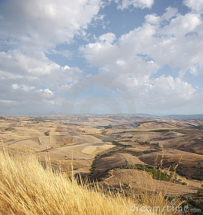Wide View Of The Sicilian Hinterland