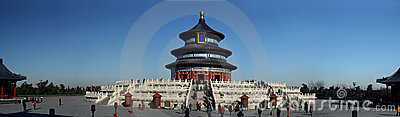 Wide view of Temple of Heaven