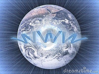 Wide world web concept