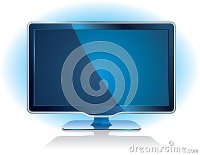Widescreen tv display