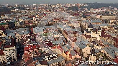 Widok części starego miasta zbiory wideo