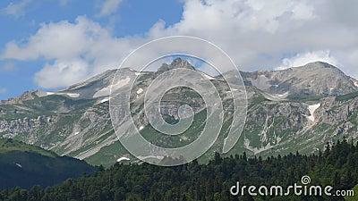 Widok góra Oshten zbiory wideo