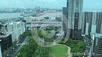 Widok Kobe schronienie, Japonia zdjęcie wideo
