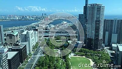 Widok Kobe schronienie, Japonia zbiory