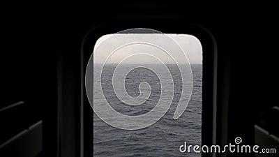 Widok morze od porthole statek zdjęcie wideo