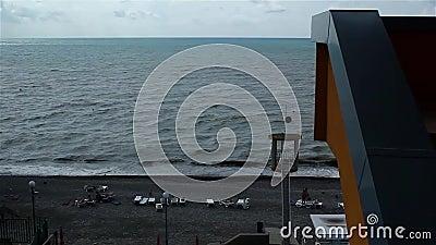 Widok morze w oddolnym i plaża zbiory