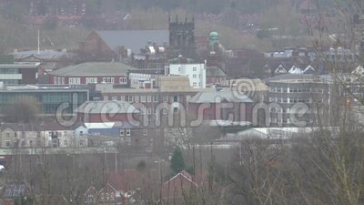 Widok okręgu administracyjnego miasteczko Stafford zdjęcie wideo