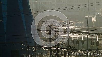 widok termiczna elektrownia zbiory wideo
