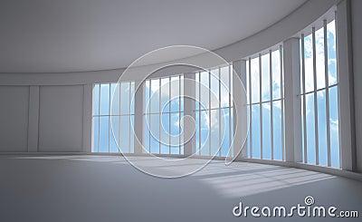 Widok wewnętrzny wielki okno