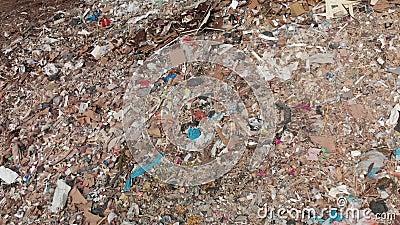 Widok z góry odpadów na składowisko zdjęcie wideo