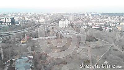 Widok z lotu ptaka komunistyczni budynki w mieście Sofia, Bułgaria Starzy budynki w stolicie Balkans Wschodni Radziecki Str zbiory