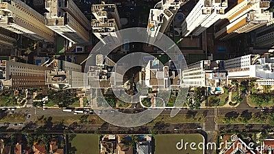 Widok Z Lotu Ptaka Ribeirao Preto miasto w Sao Paulo, Brazylia Sierpień, 2017 Fiusa aleja zdjęcie wideo