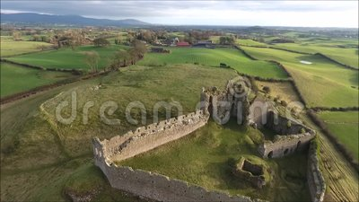 widok z lotu ptaka Roche kasztel Dundalk Irlandia zbiory