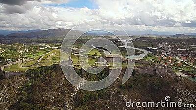 Widok z lotu ptaka Rozafa kasztel w Albania zbiory