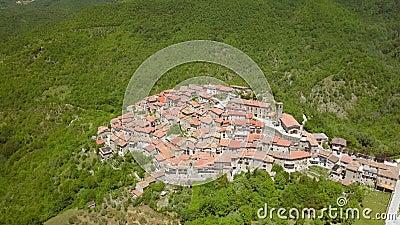 Widok z powietrza drzew na górze w Petrello Salto zbiory wideo